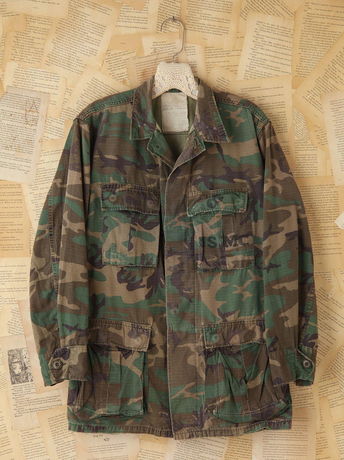 Vintage Camouflage Cargo Jacket