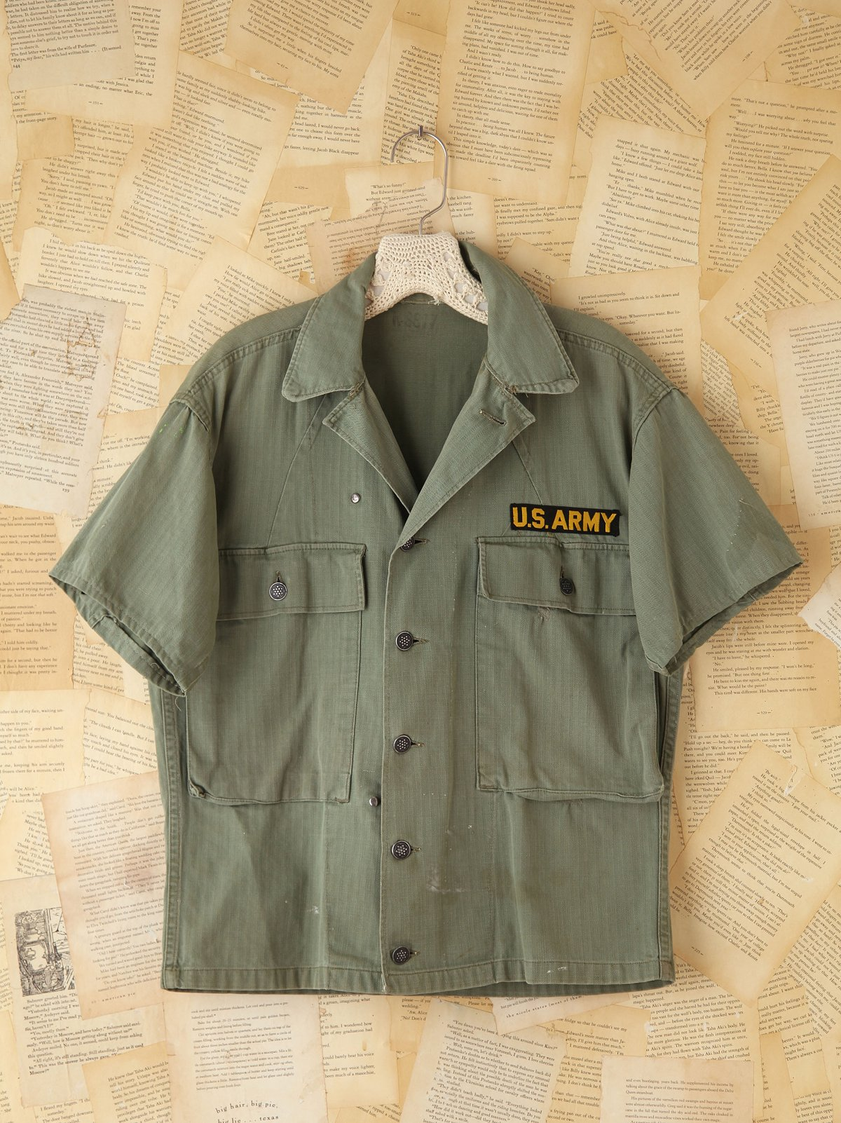 Vintage Military Cargo Shirt