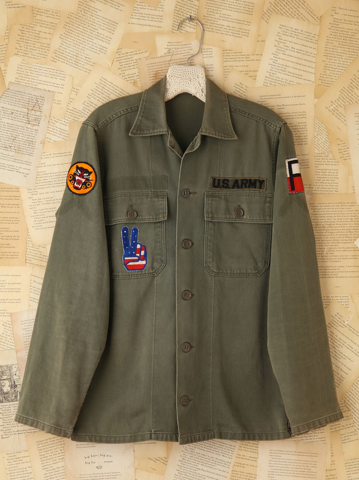 Vintage Patched Army Shirt