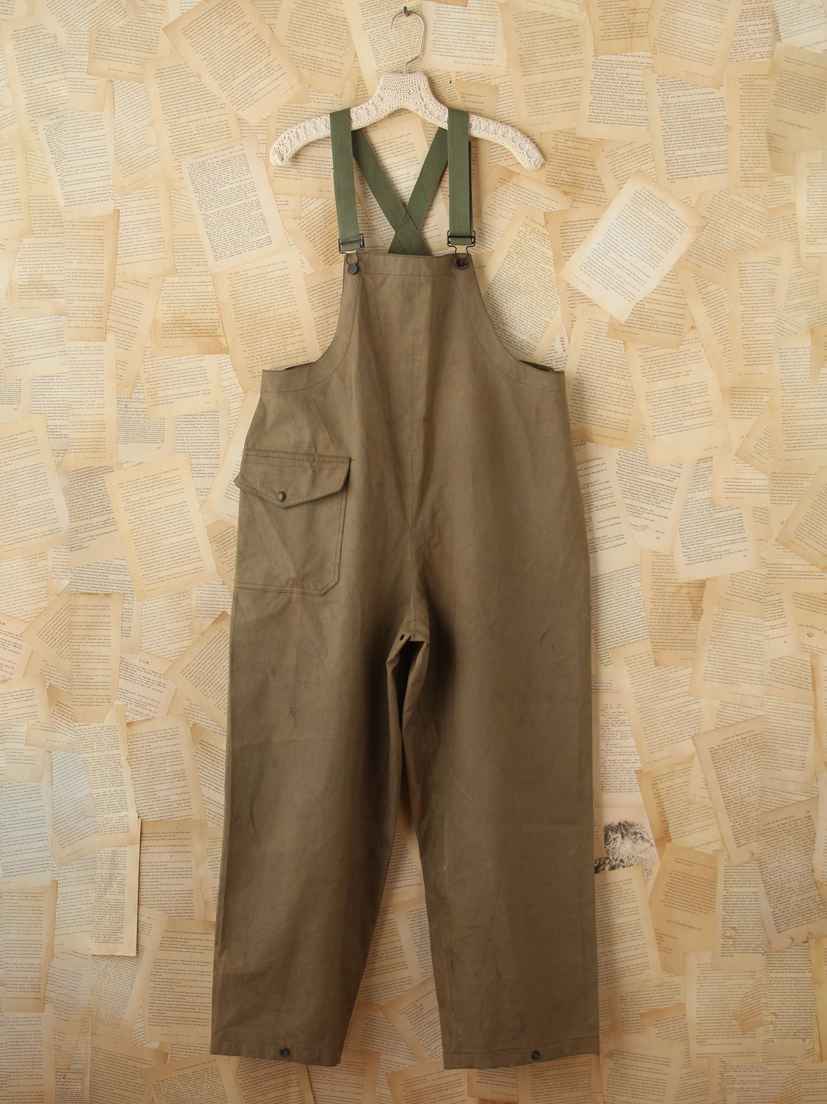 Vintage Army Green Overalls
