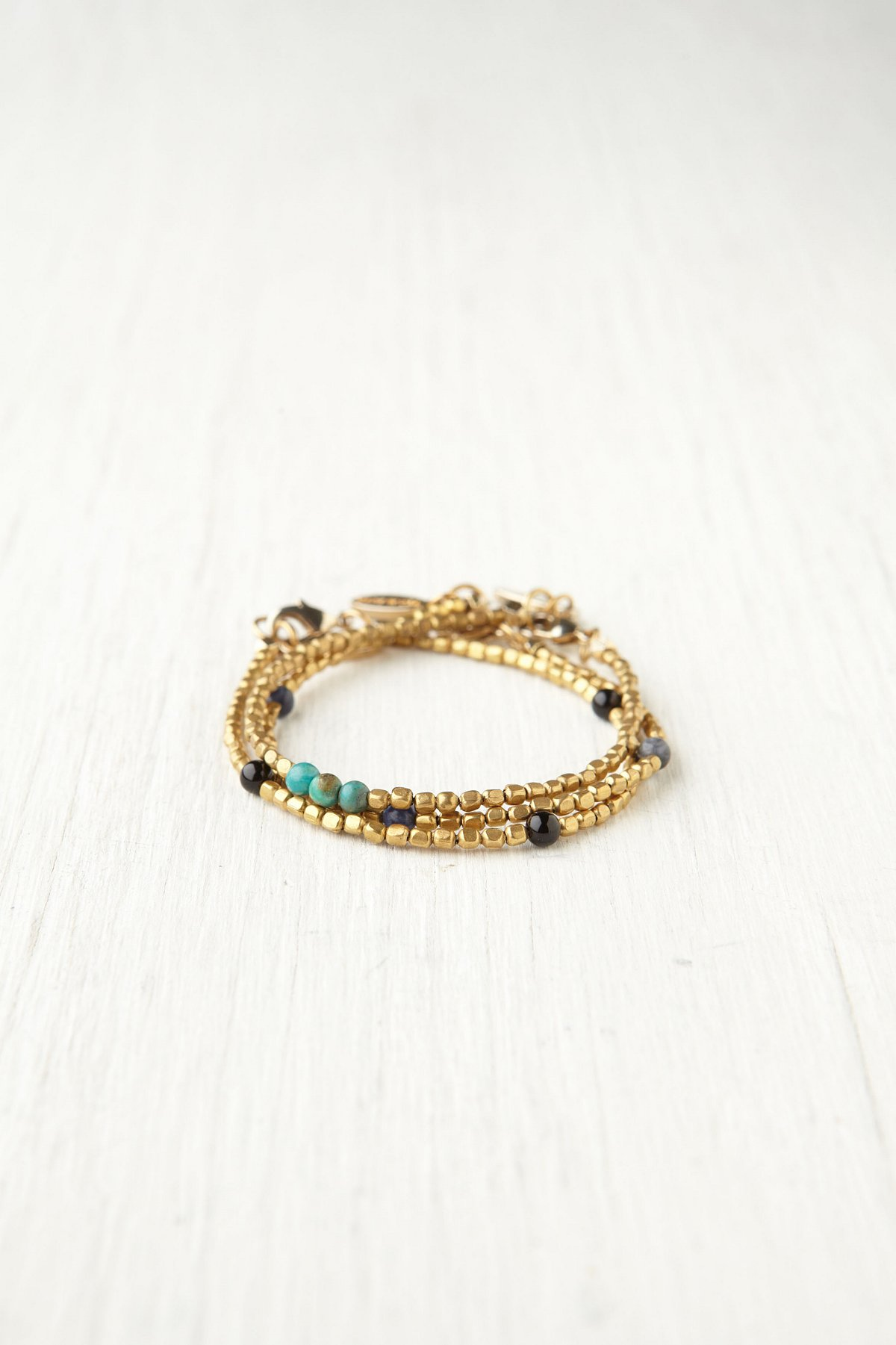 Delicate Brass Beaded Set