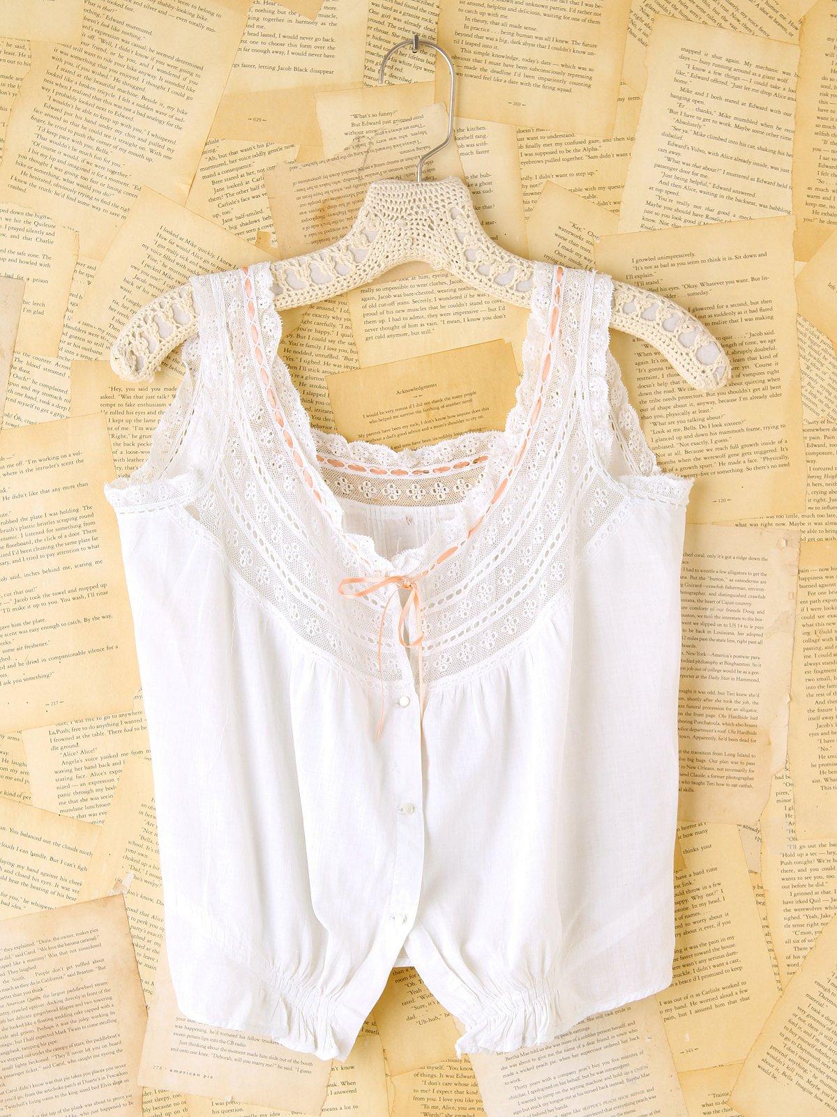 Vintage Lace Buttondown Camisole