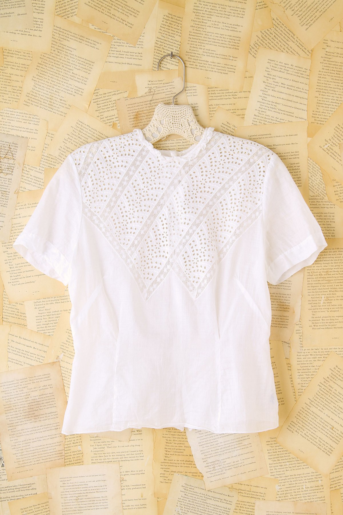 Vintage Eyelet and Lace Top