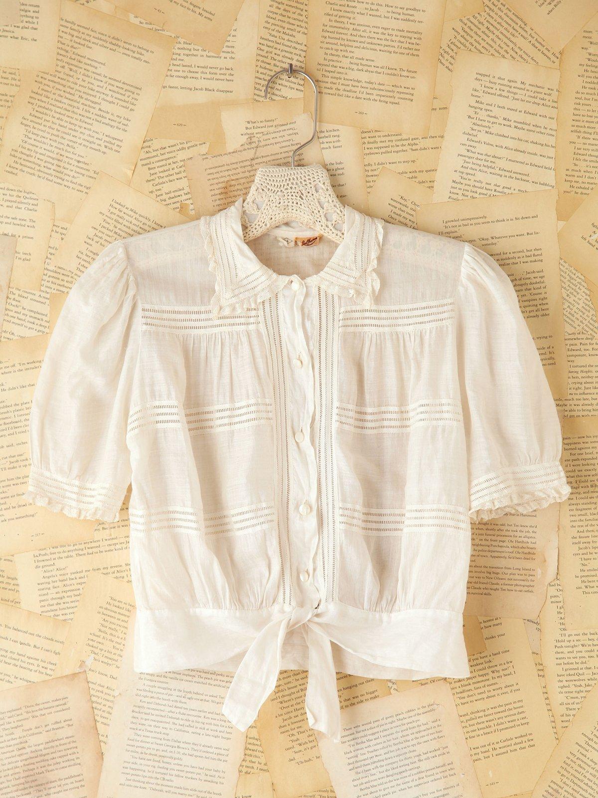 Vintage Cotton Crop Top