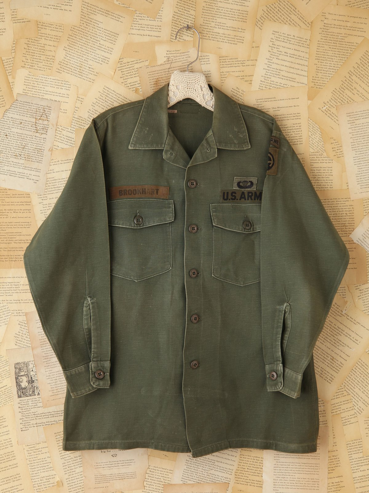 Vintage Military Patched Cargo Jacket
