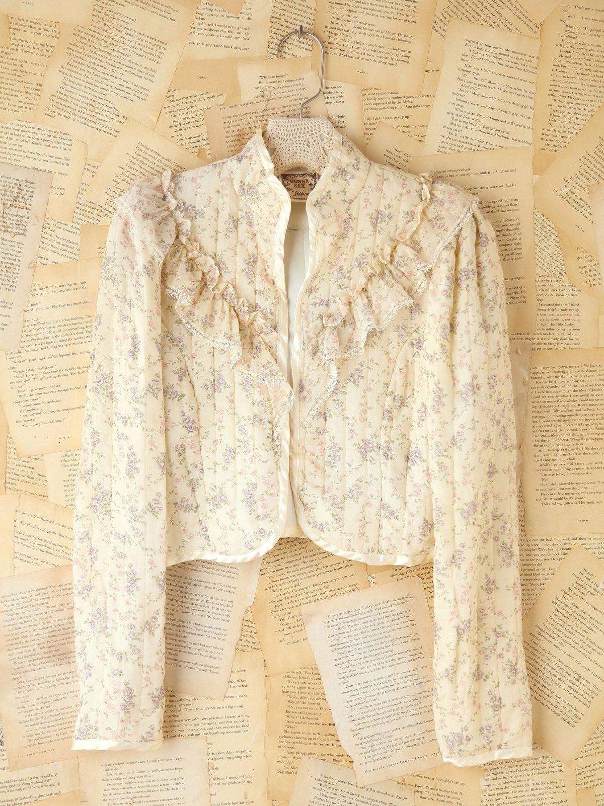 Vintage Floral Quilted Jacket