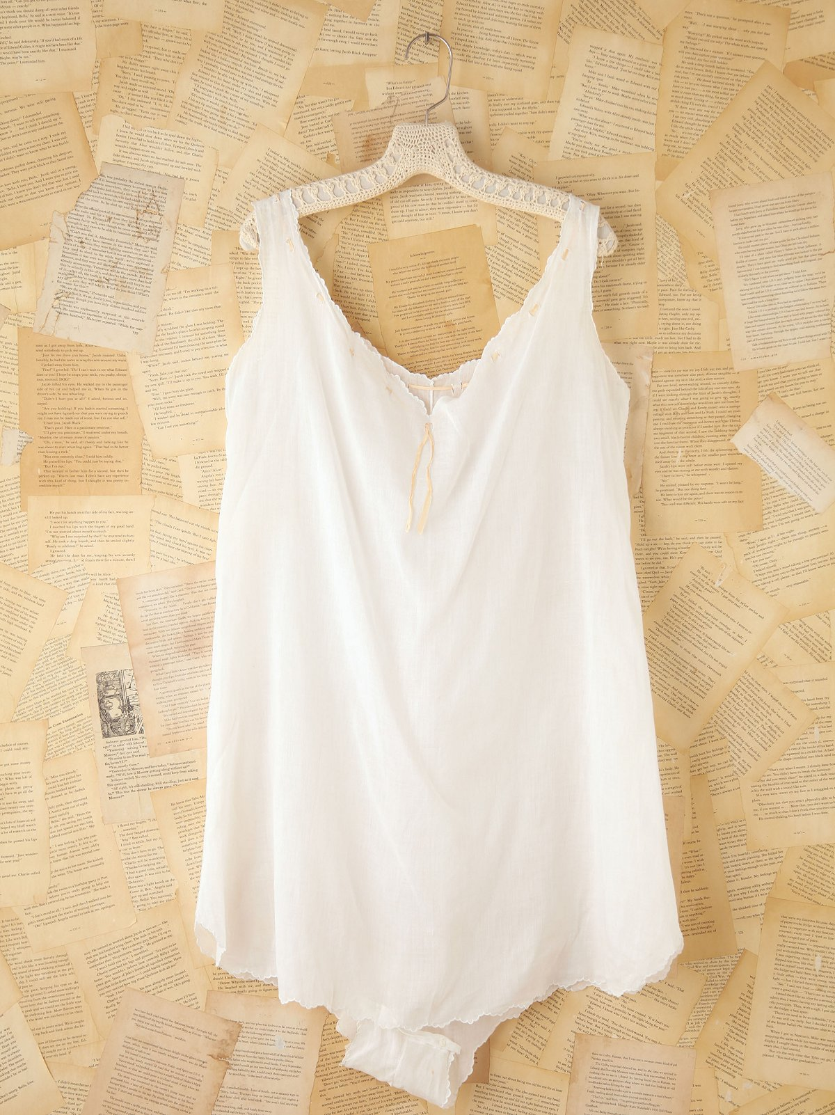 Vintage Sleeveless Cotton Romper
