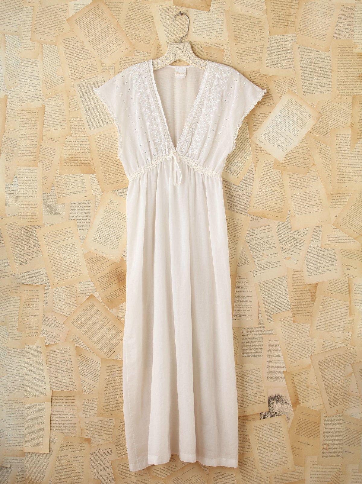Vintage Cotton Eyelet Maxi Dress
