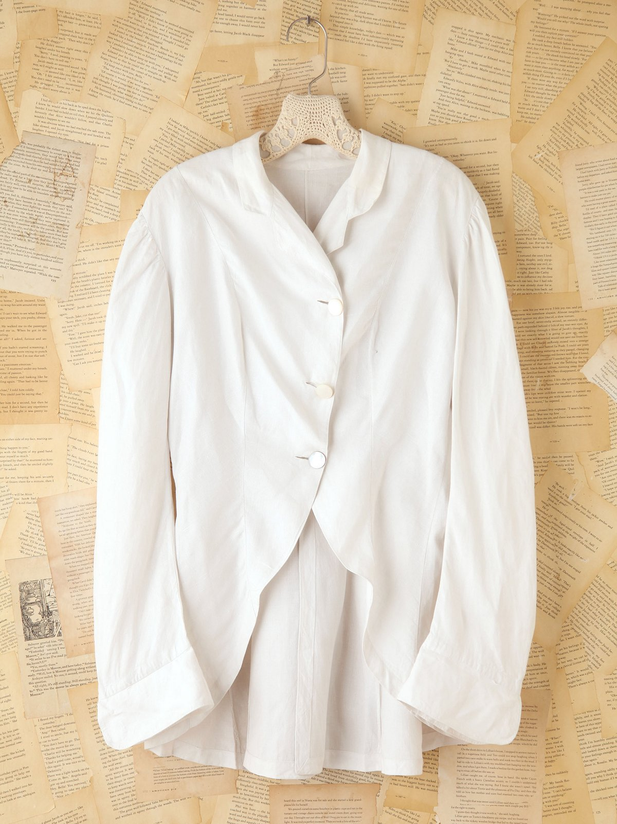 Vintage Long Sleeve Linen Blouse