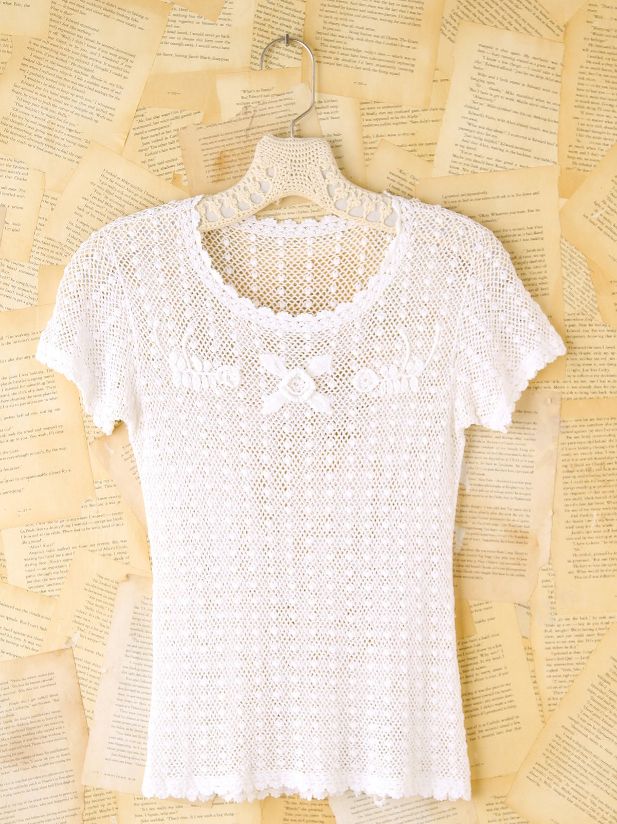 Vintage Crochet Short Sleeve Top