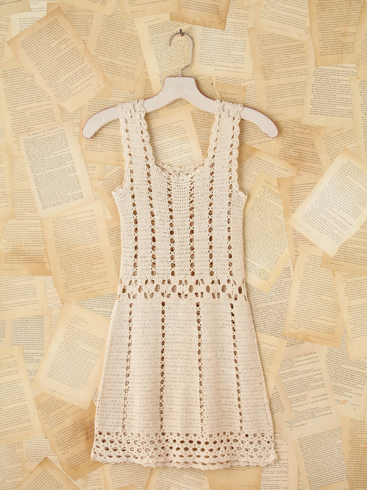 Vintage Crochet Mini Dress