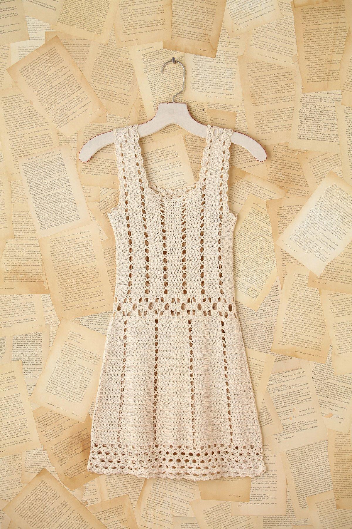 Vintage Crochet Mini Dress