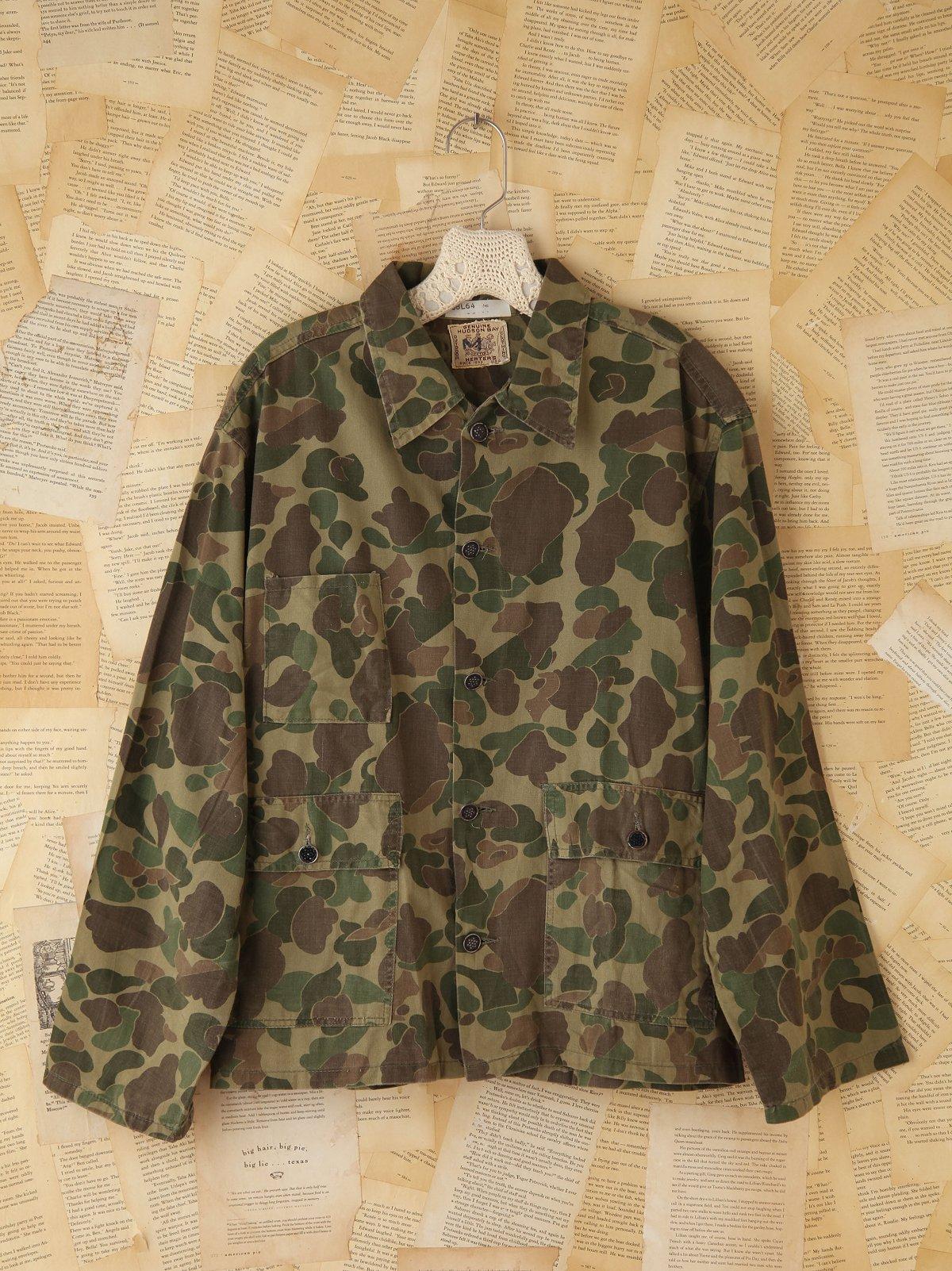 Vintage Camouflage Cargo Shirt
