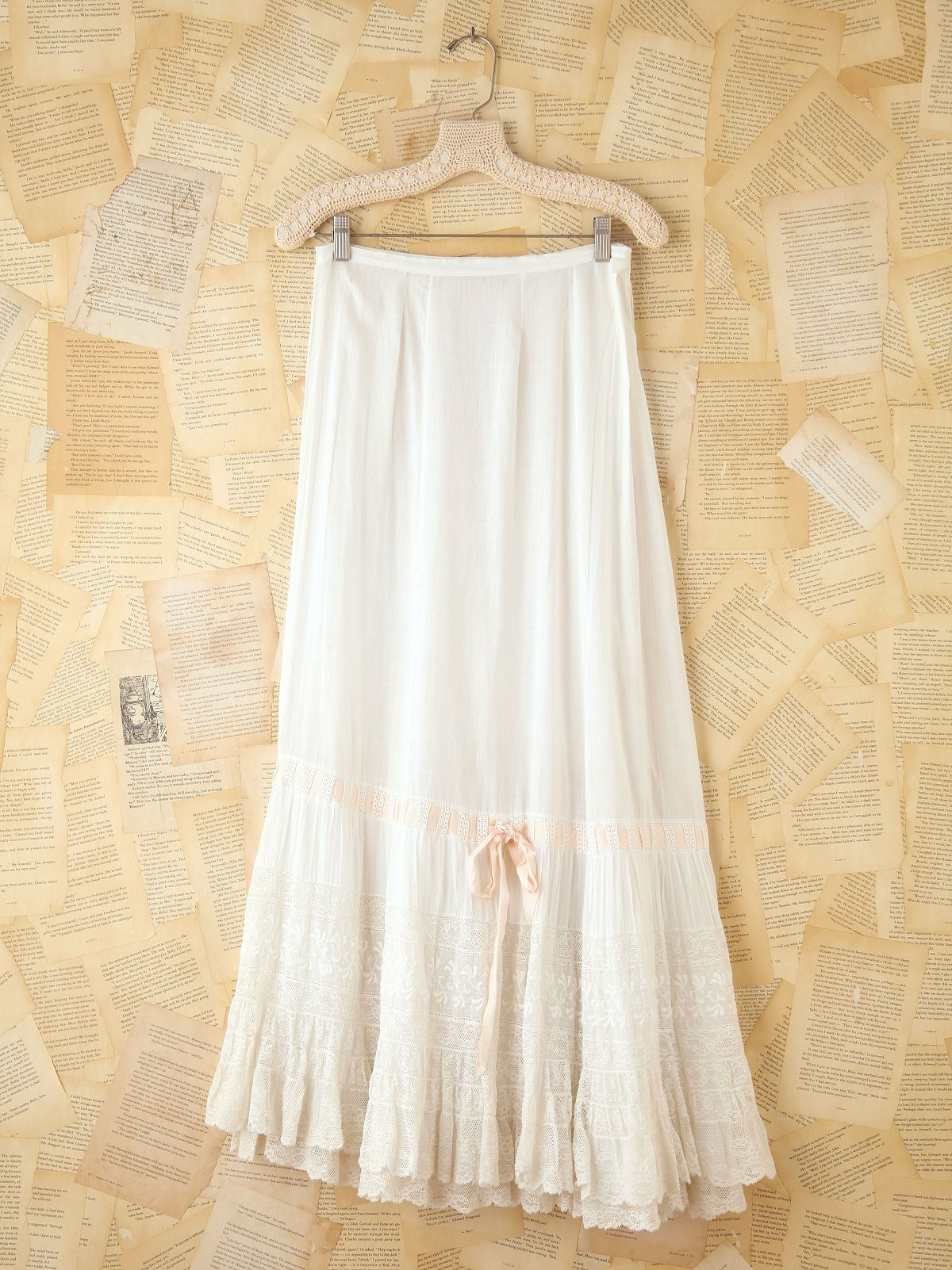 Vintage Long Lace Skirt