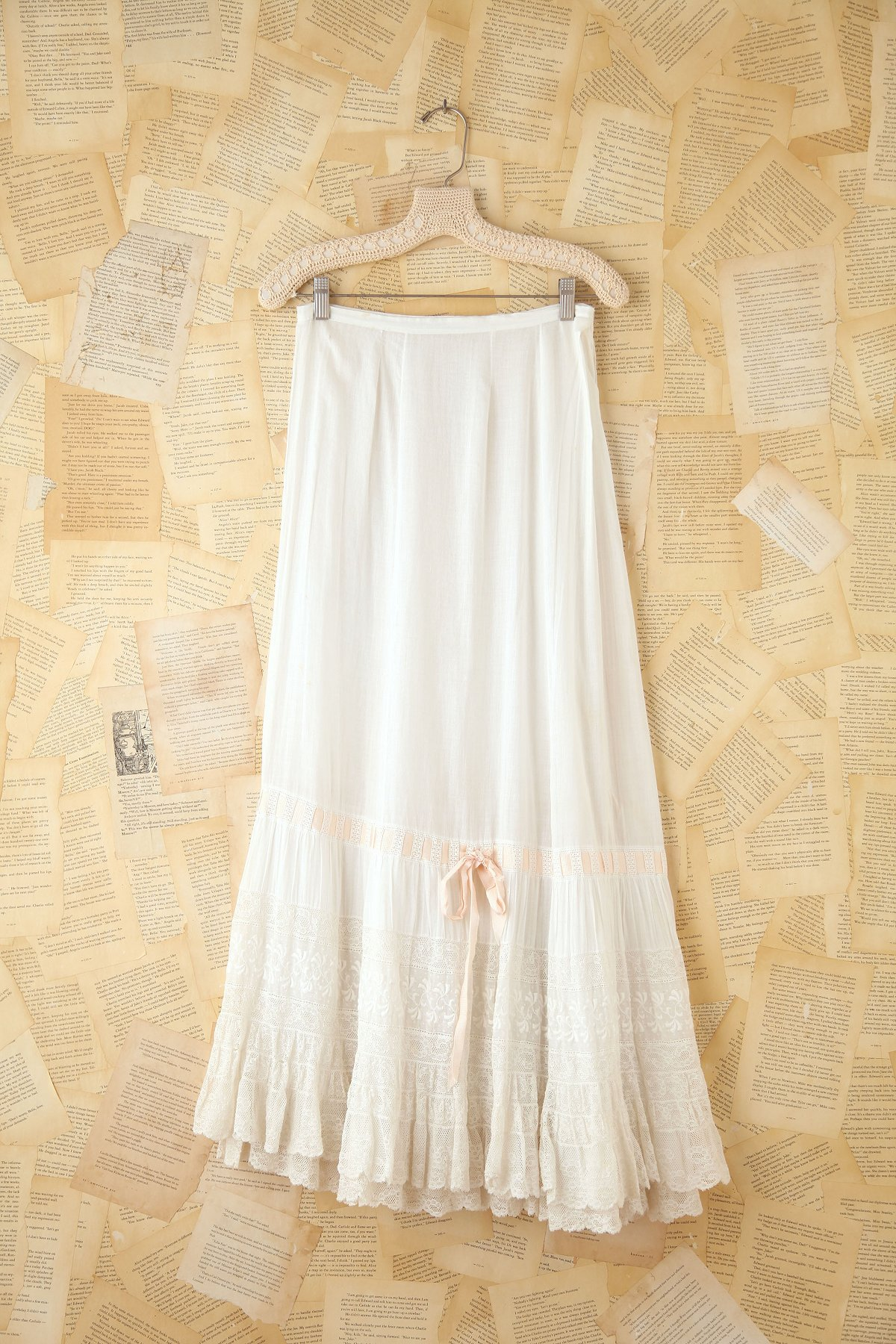Vintage Long Lace Skirt