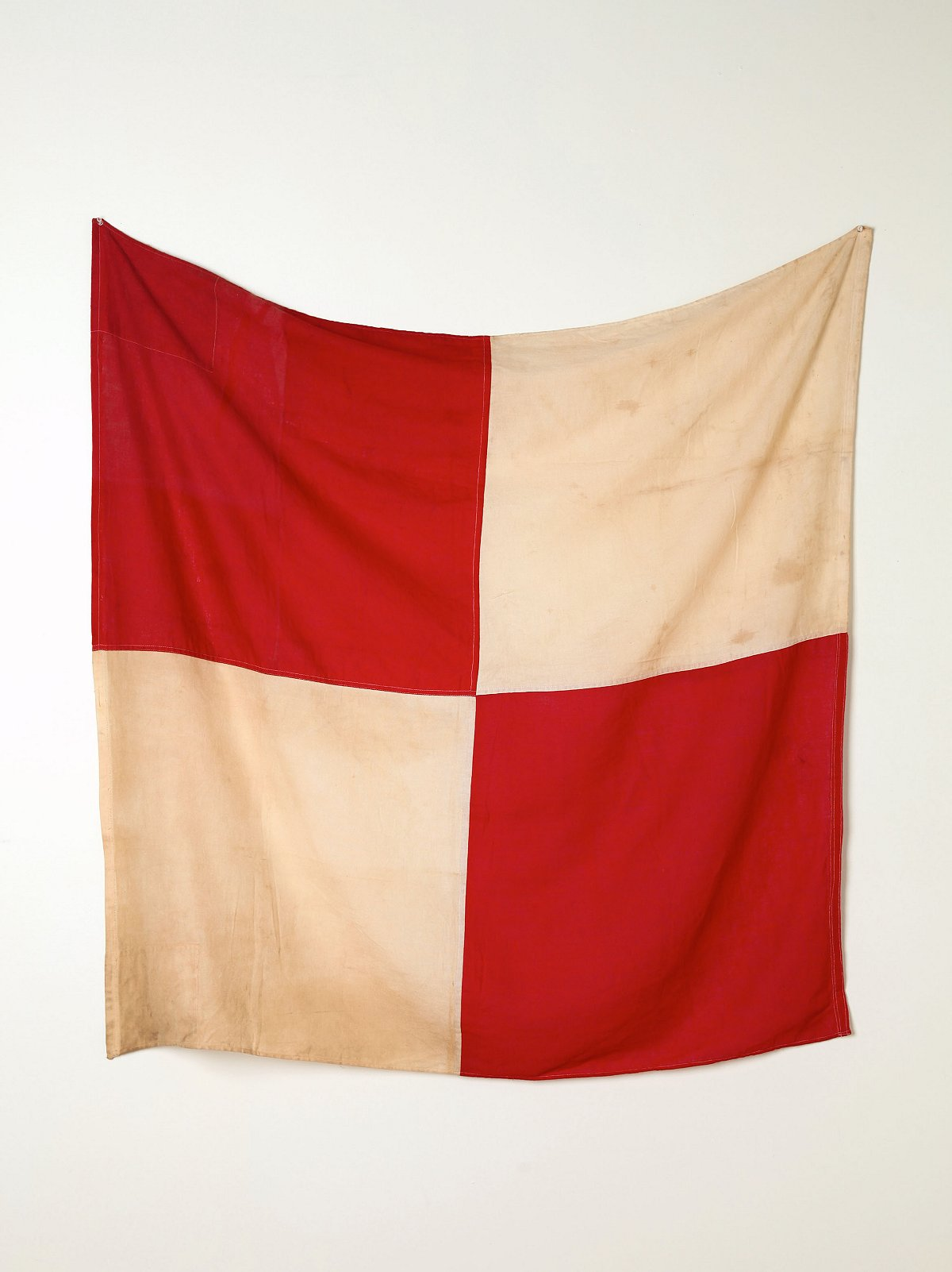 Vintage Red and White Flag