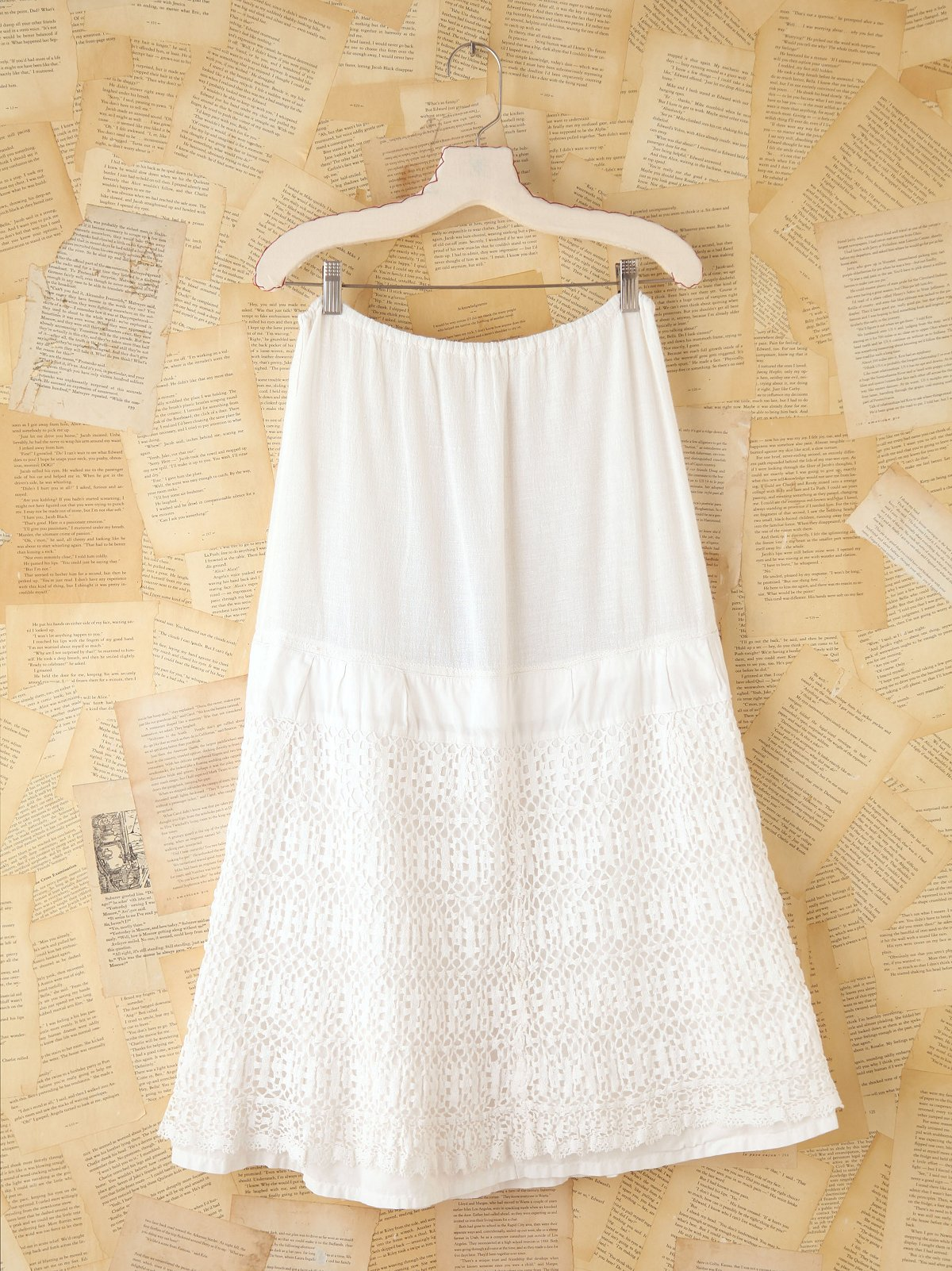 Vintage Long Tiered Skirt
