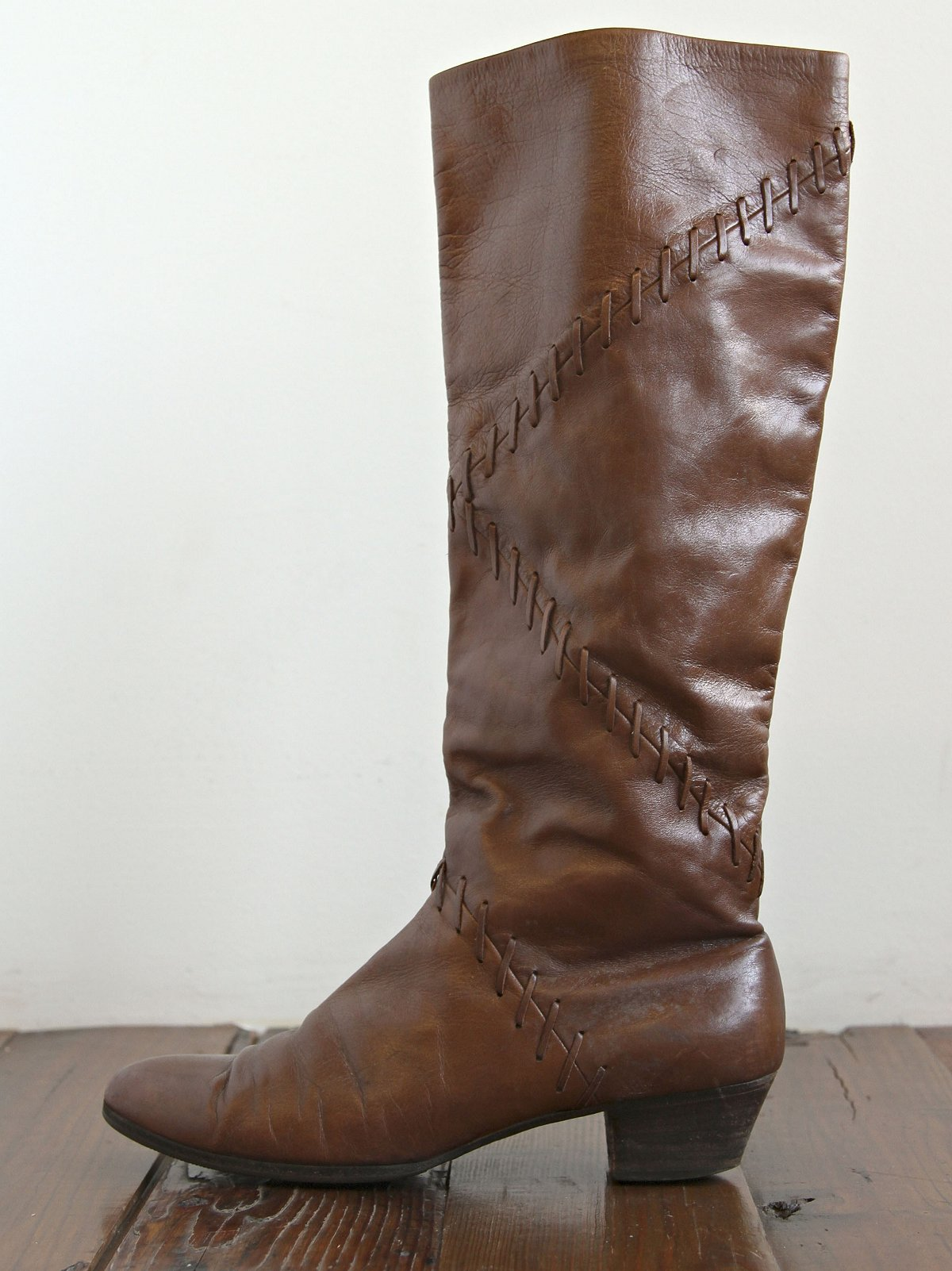 Vintage Brown Leather Ferragamo Boots