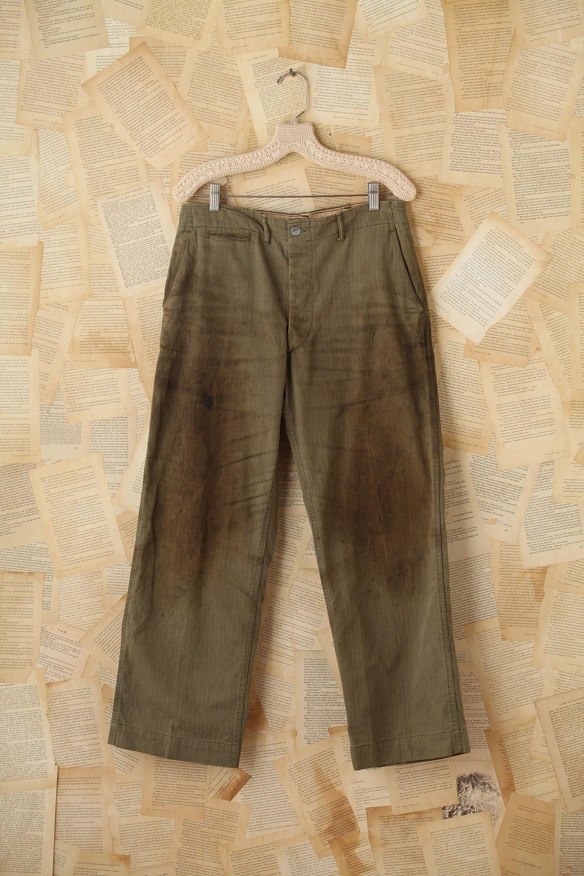 Vintage Distressed Military Cargo Pants