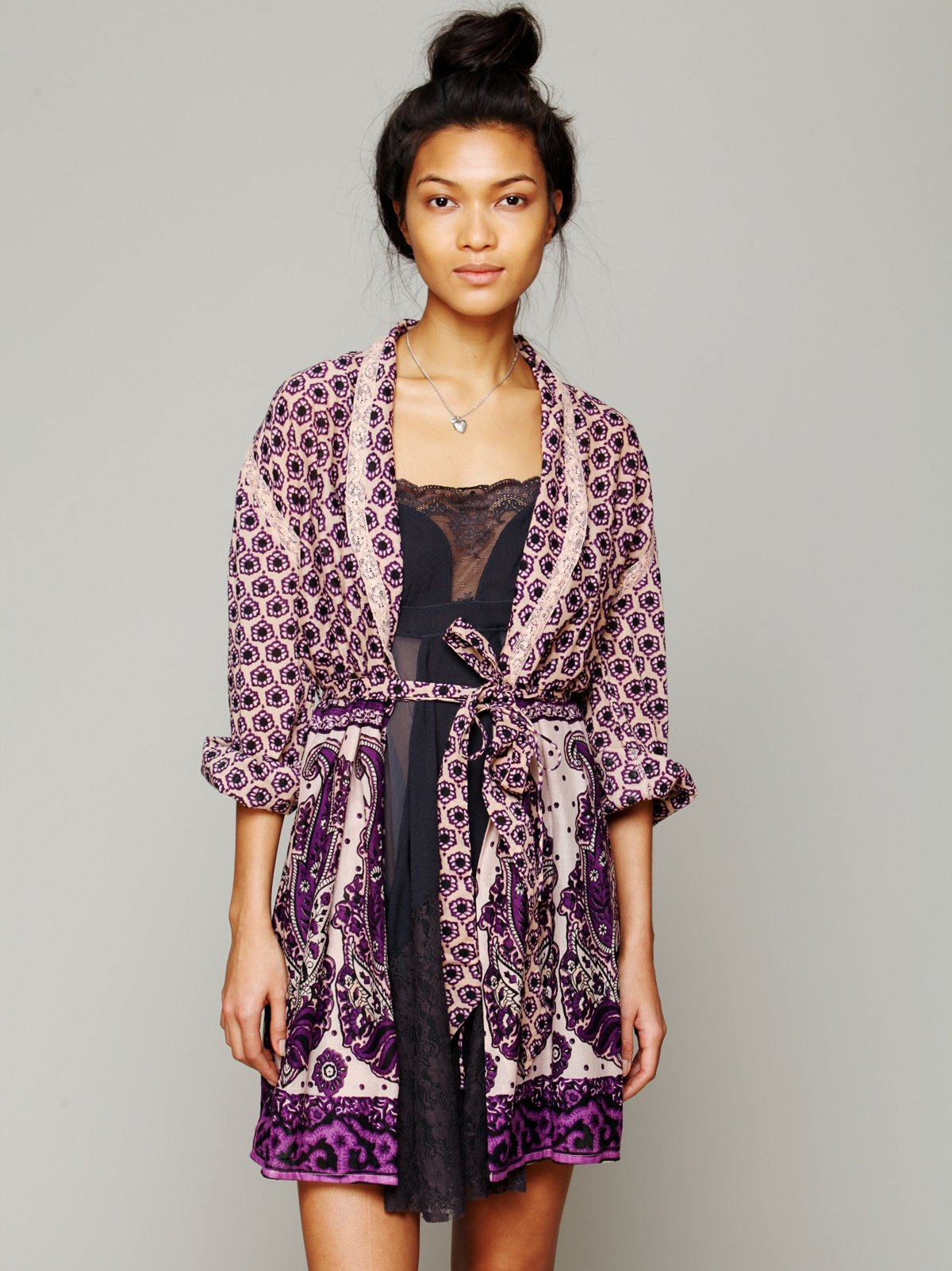 FP ONE Border Print Sleep Robe