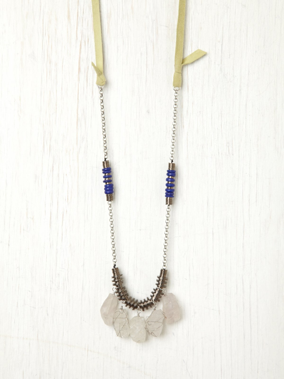 Metal Bead & Stone Necklace