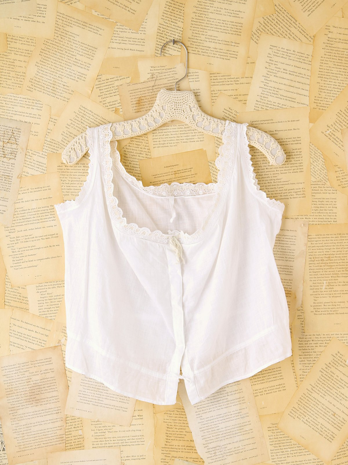 Vintage Cotton Eyelet Tank Top