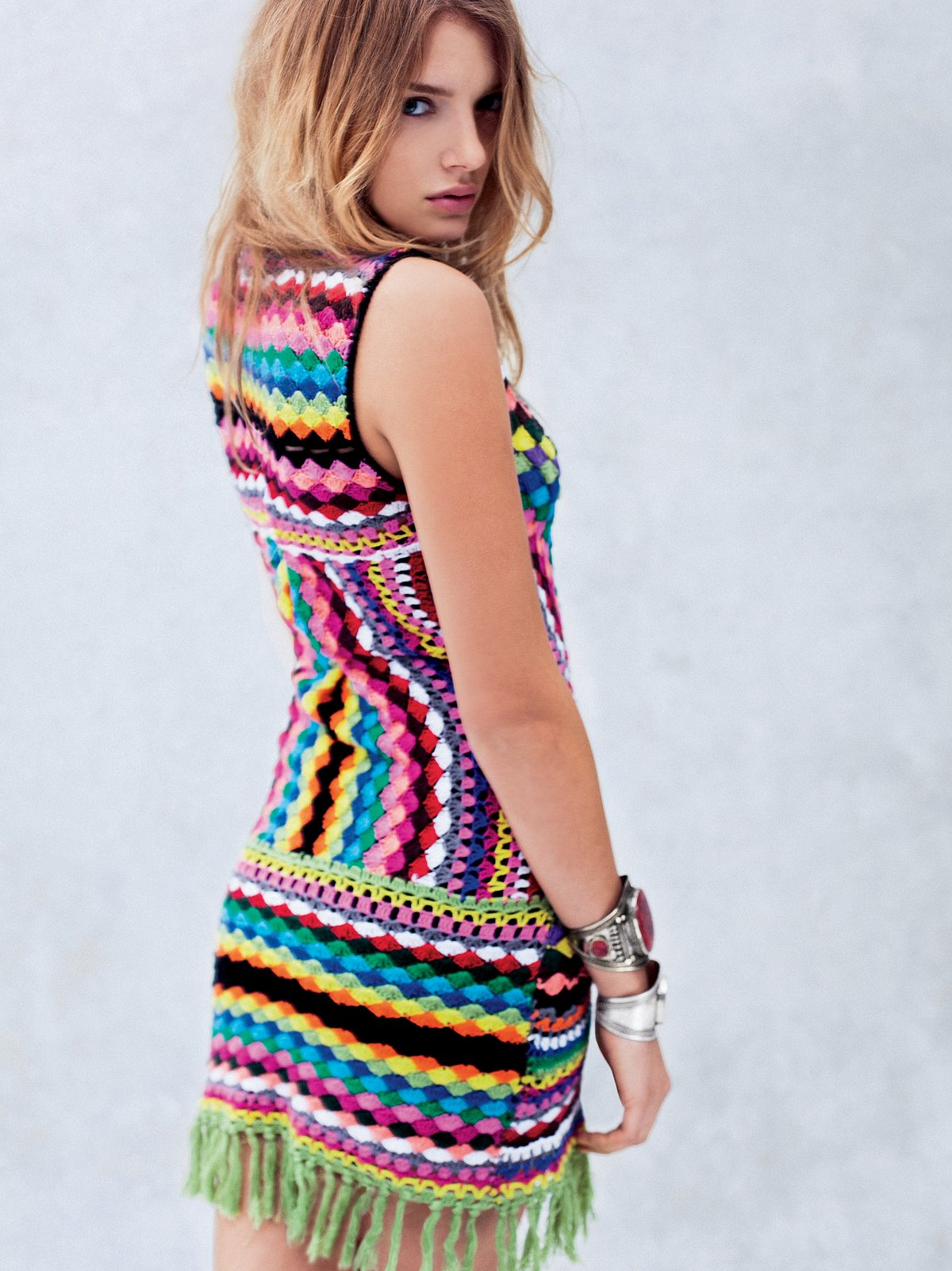 Connected In Crochet Fringe Dress