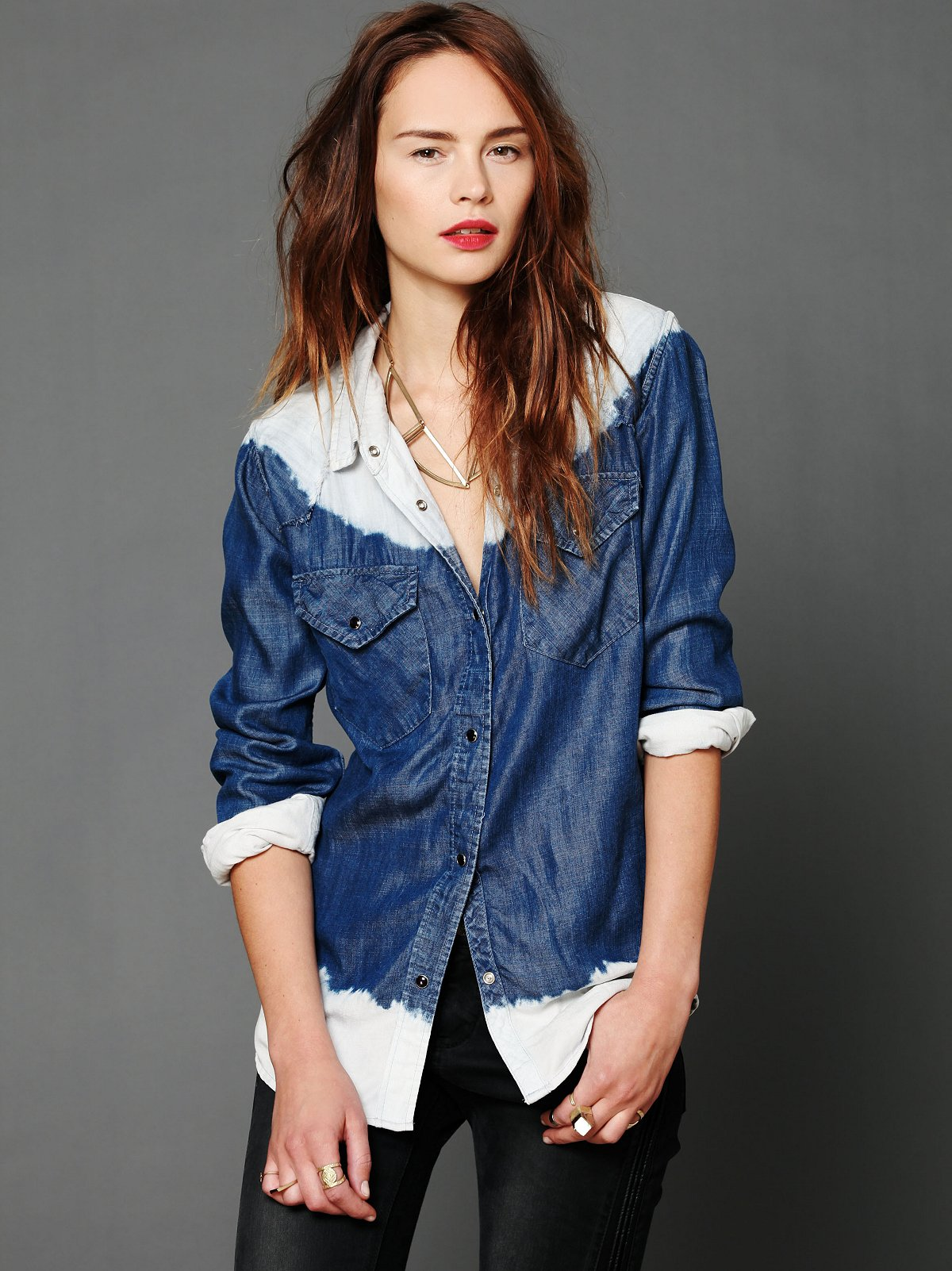 Ride The Rails Dip Dye Buttondown