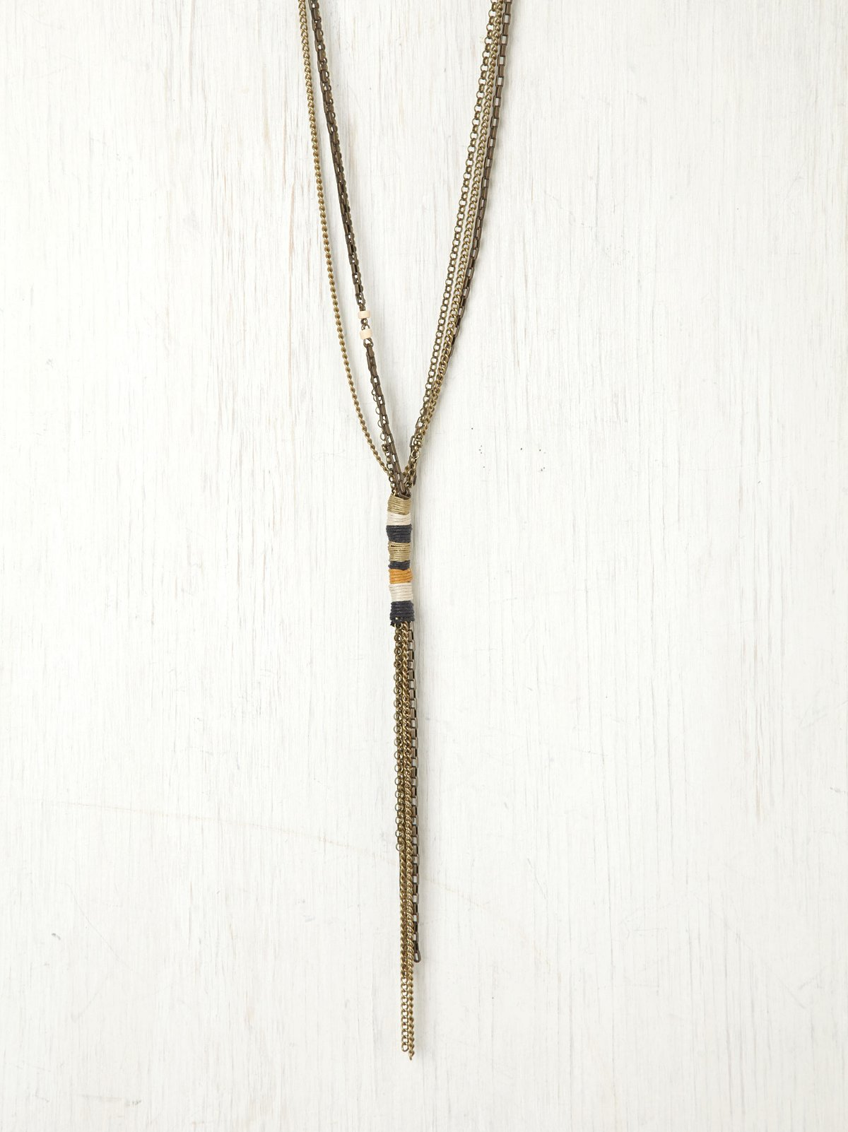 Wrapped Thread Chain Necklace