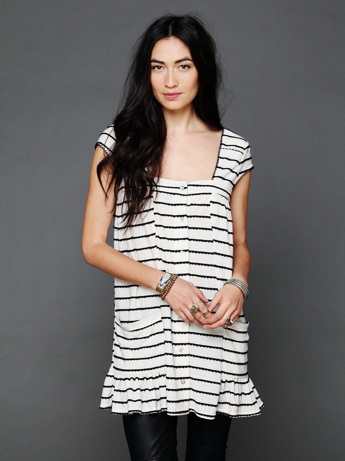Cap Sleeve Buttondown Dress