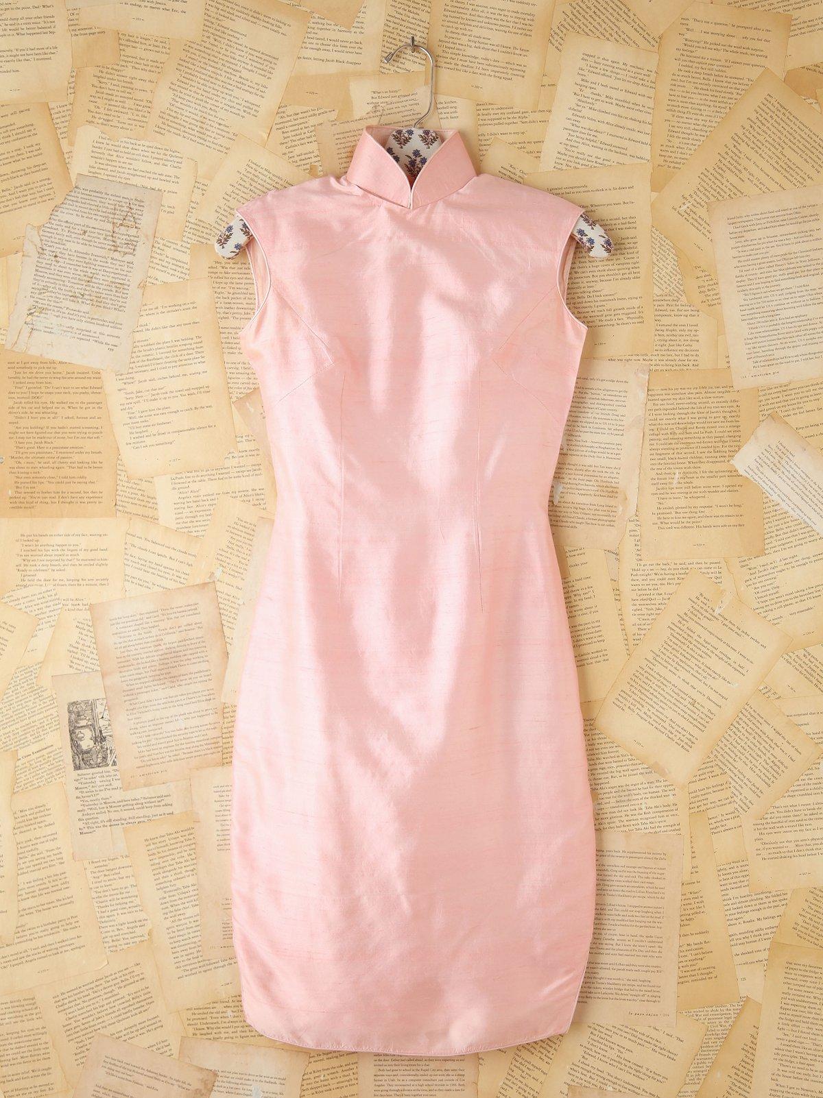 Vintage Pink Silk Texturized Dress
