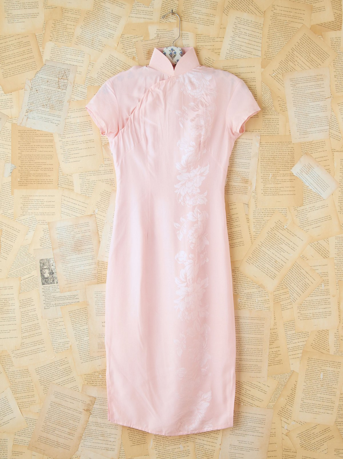 Vintage Pink Silk Dress