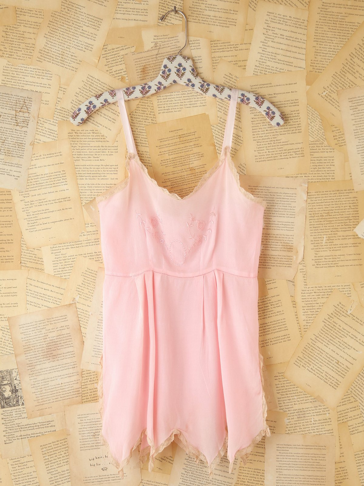 Vintage Pink Silk Cami