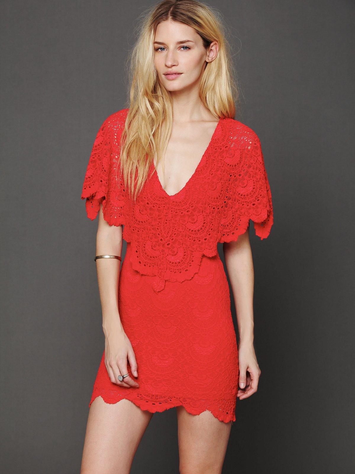 Spanish Lace Poncho Dress