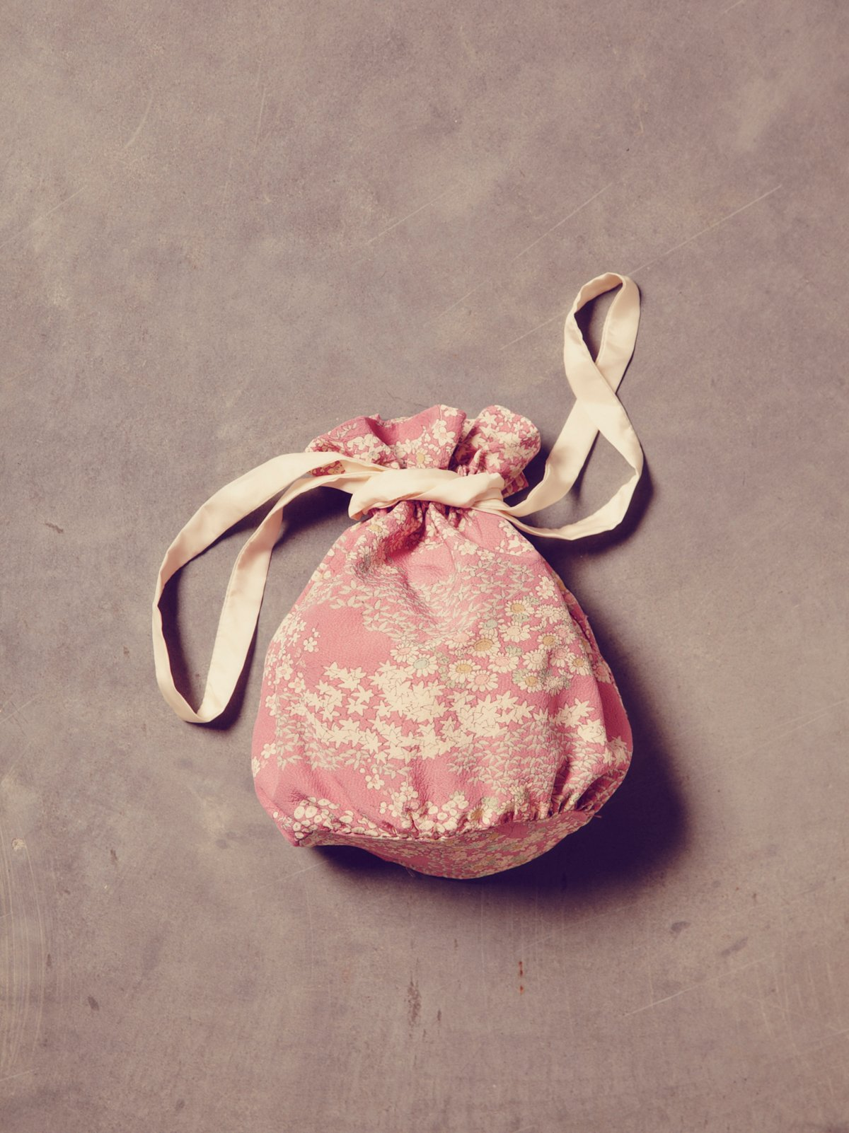 Vintage Lavender Floral Kimono Bag