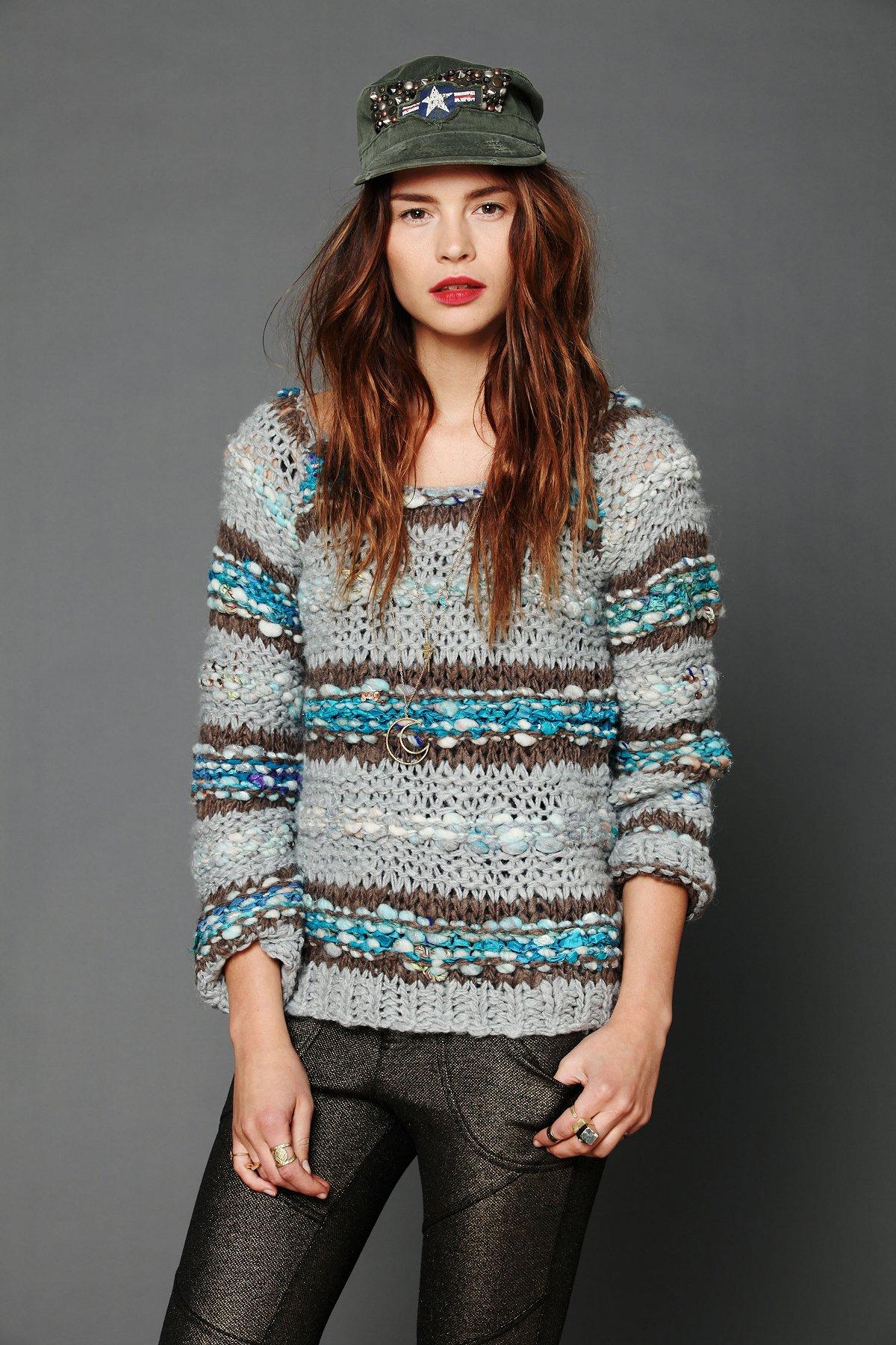 Lofty Sari Pieced Pullover
