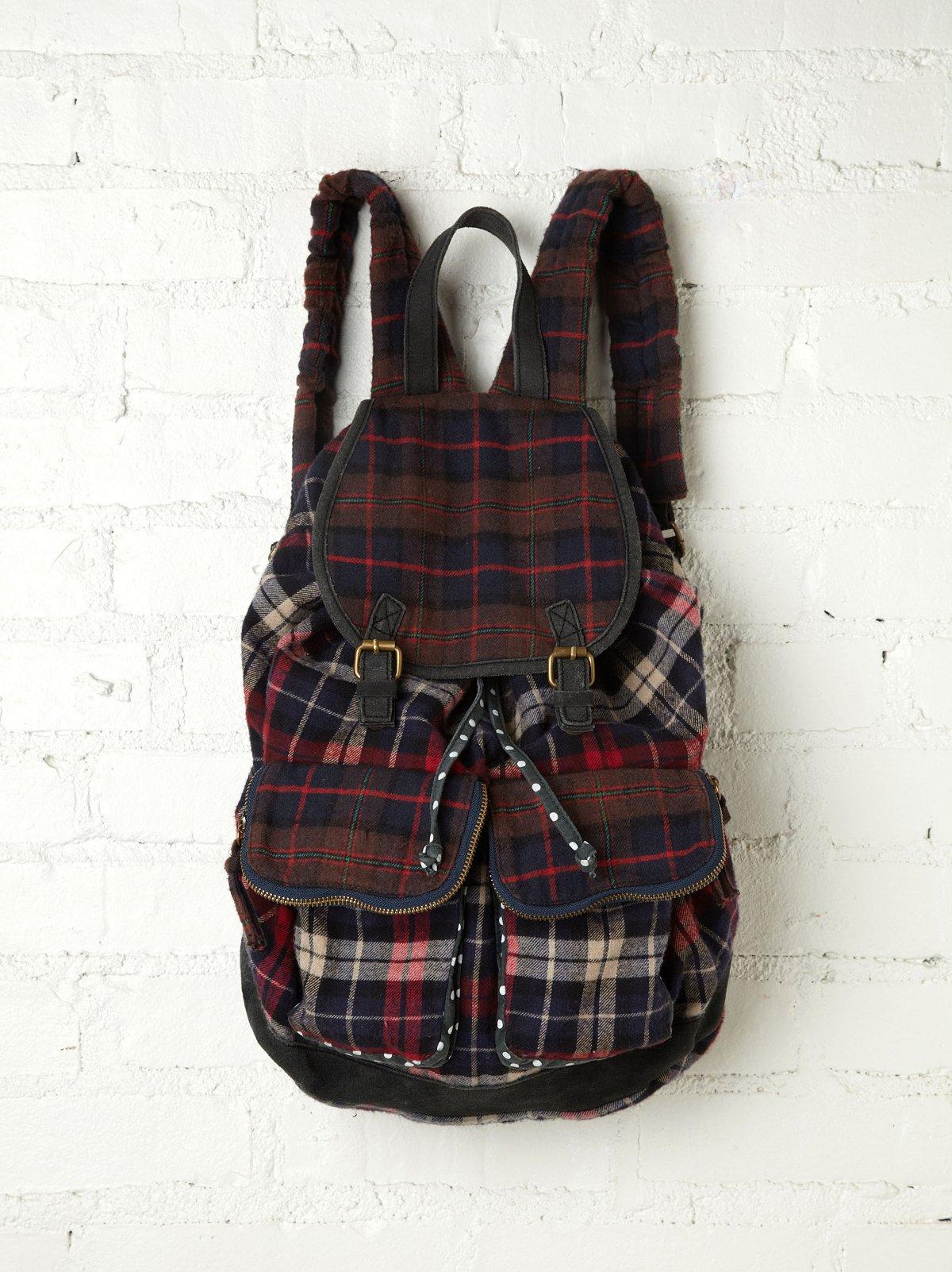 Portland Plaid Backpack