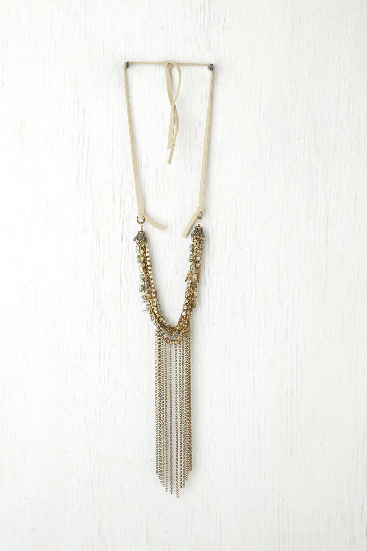 Mixed Stone and Chain Necklace