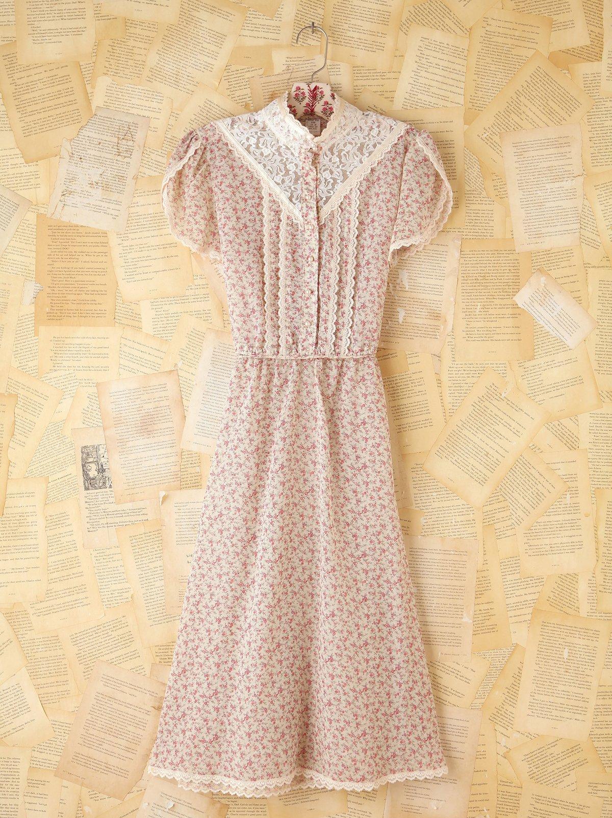 Vintage Ditzy Floral Dress