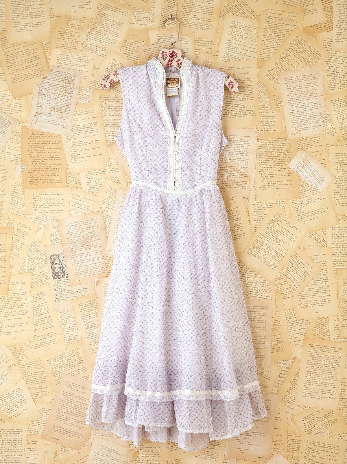 Vintage Floral Buttonfront Dress