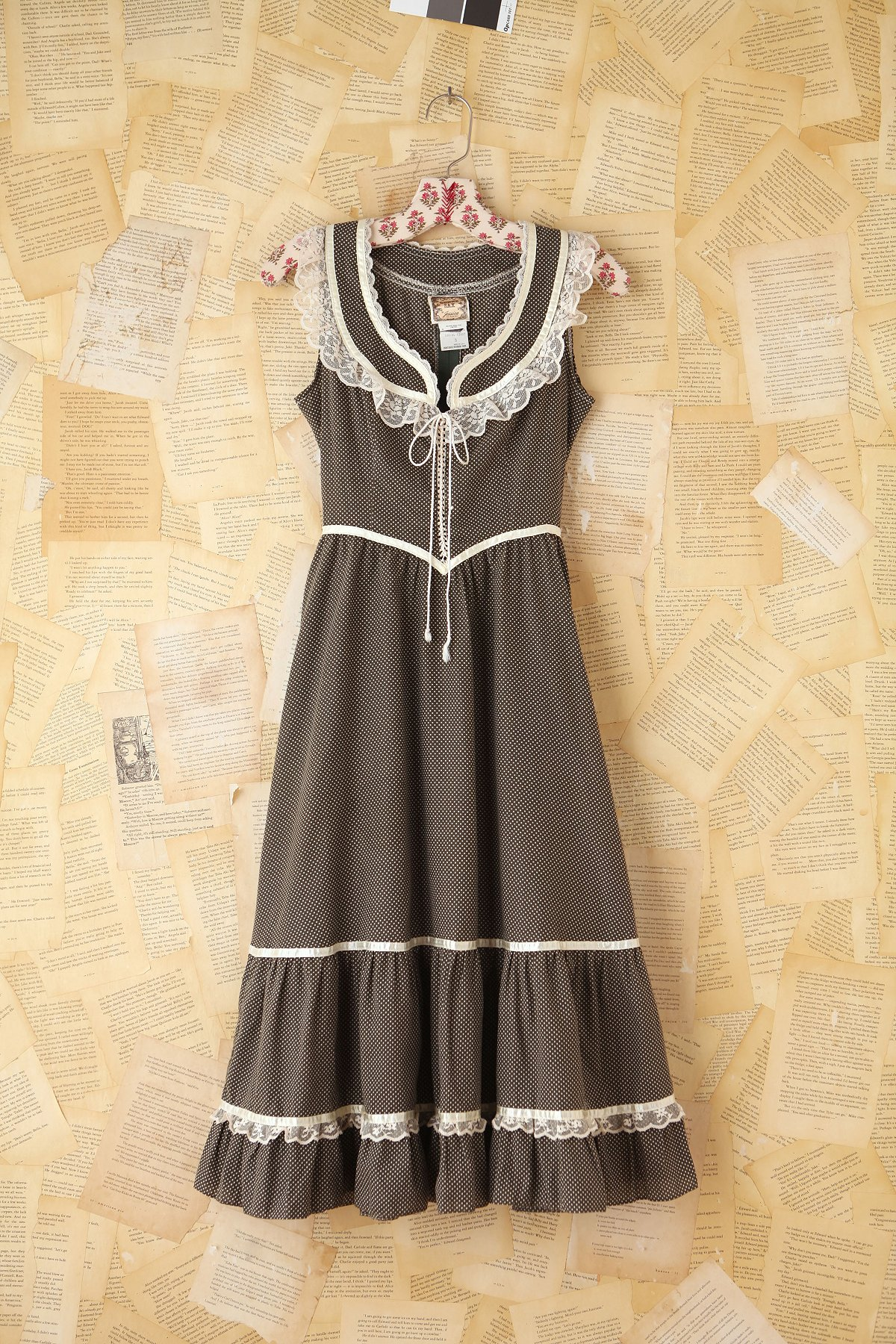 Vintage Dot and Lace Dress