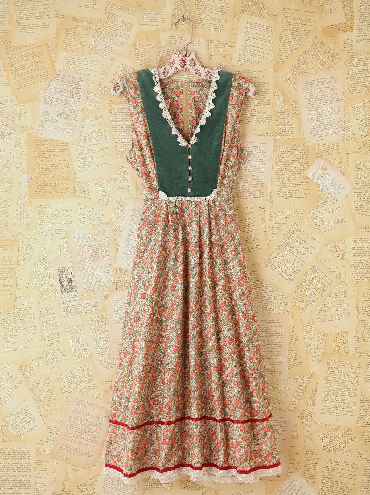 Vintage Multicolor Floral Dress