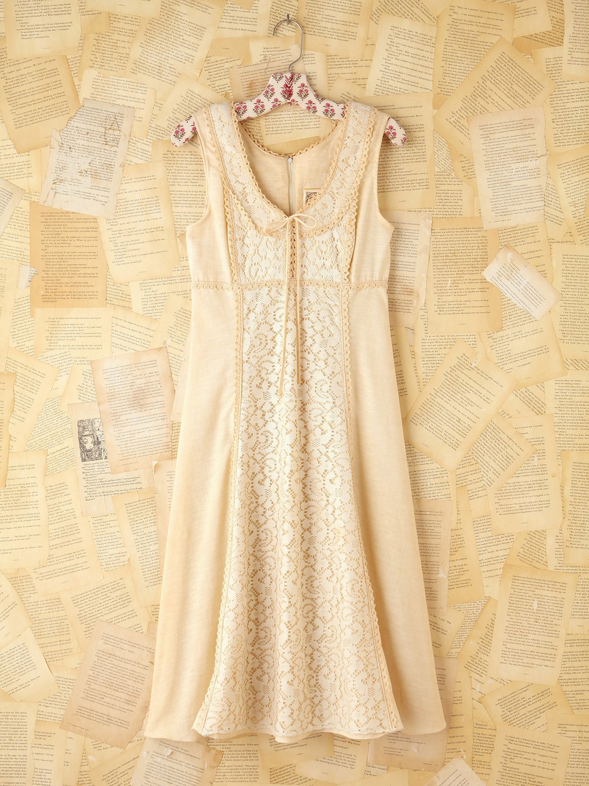 Vintage Creme Sleeveless Dress