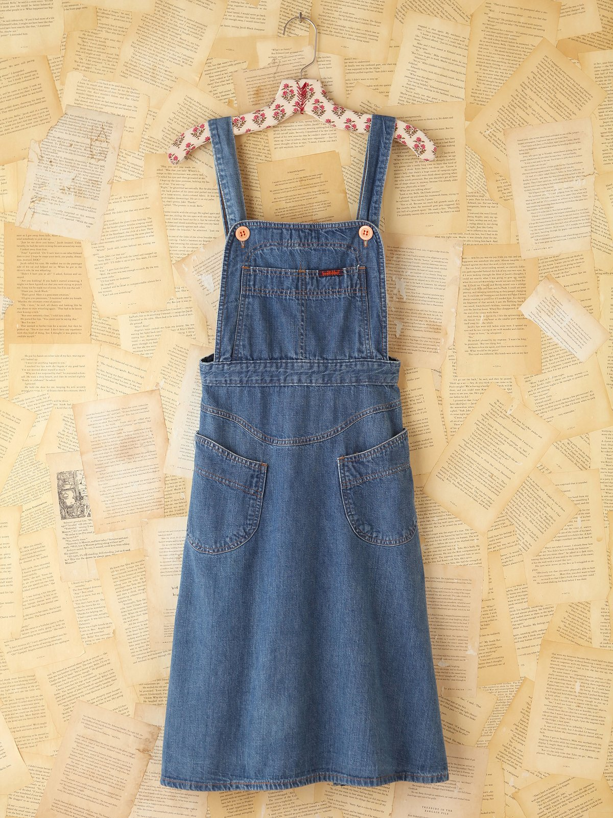 Vintage Denim Overall Dress