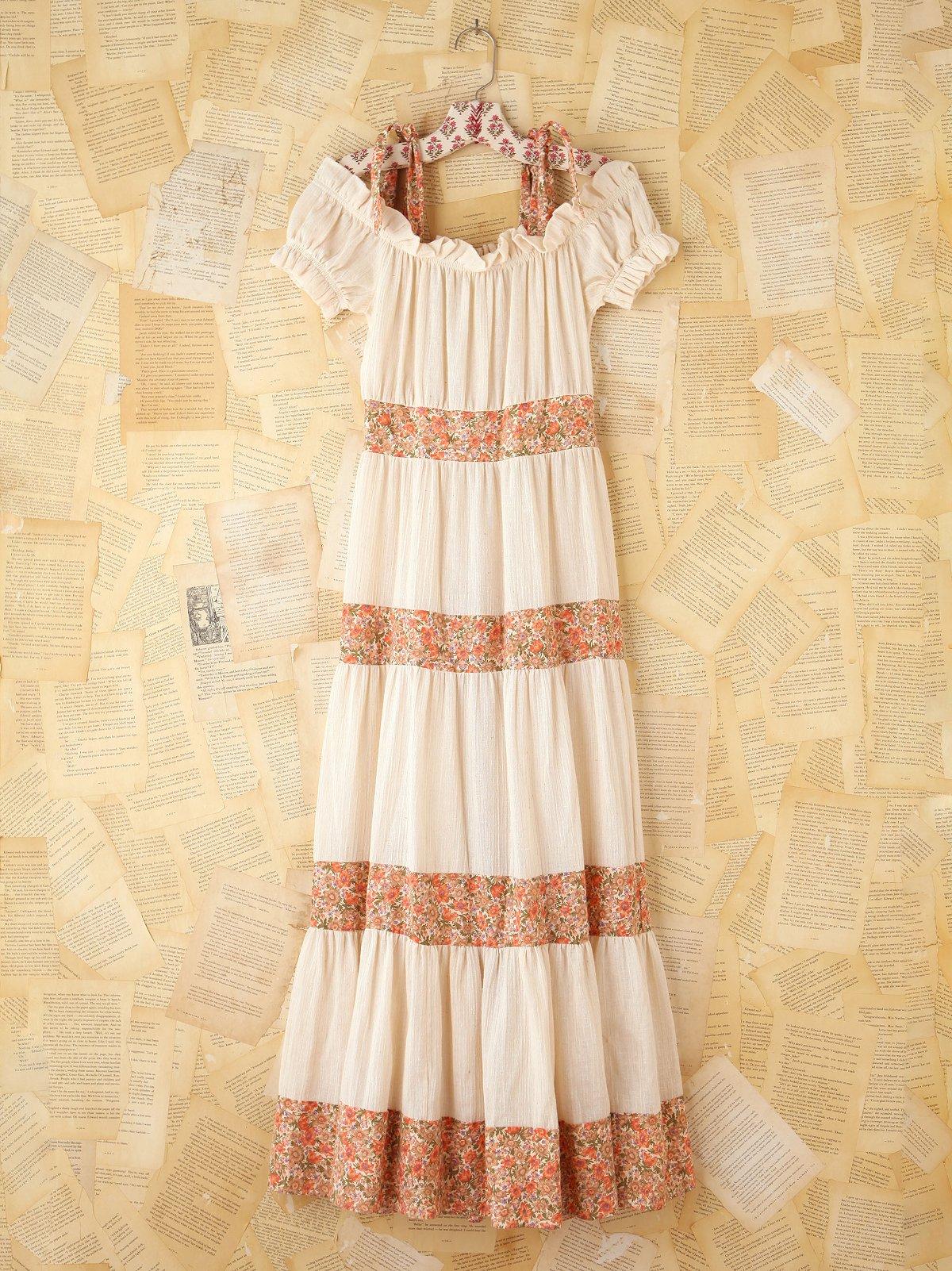 Vintage 1980s Off the Shoulder Dress