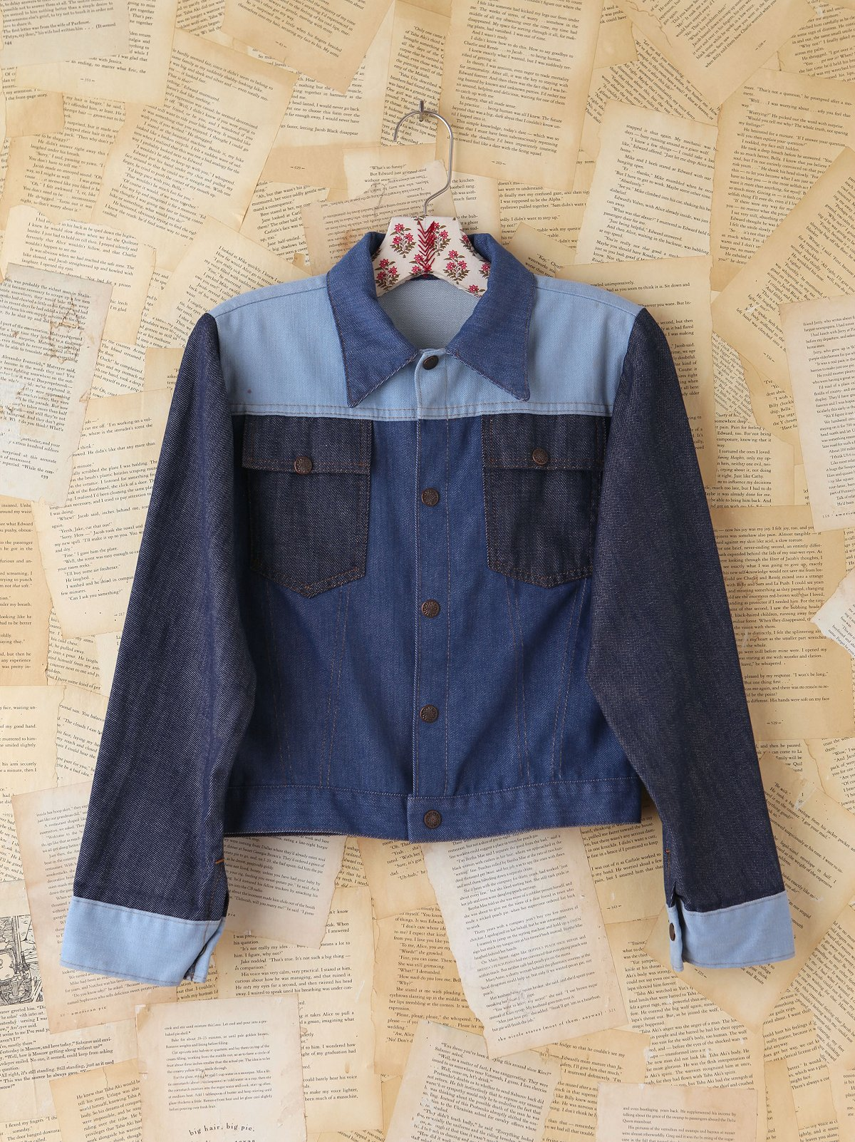 Vintage Triple-Tone Denim Jacket