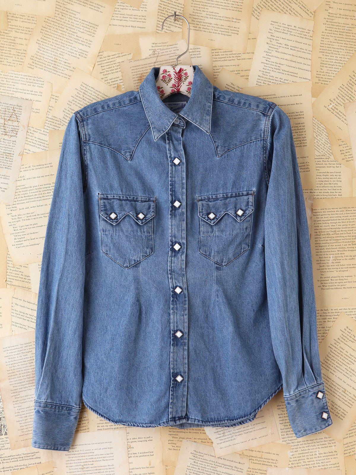 Vintage Button Front Denim Shirt