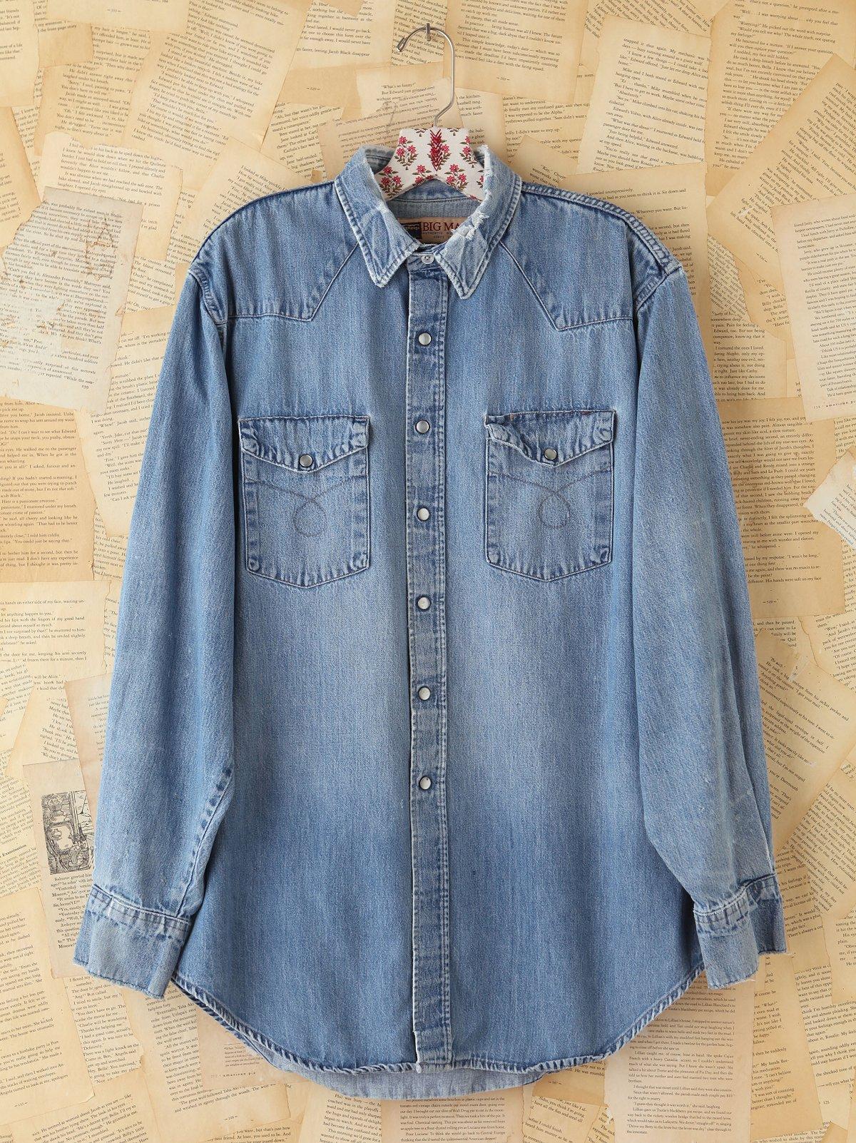Vintage Denim Button Front Shirt
