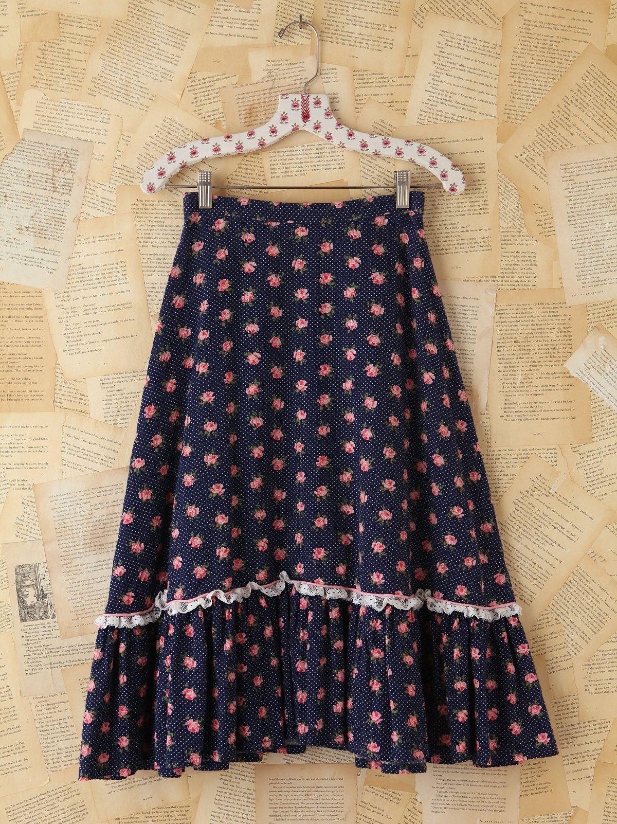 Vintage Ditzy Floral Skirt
