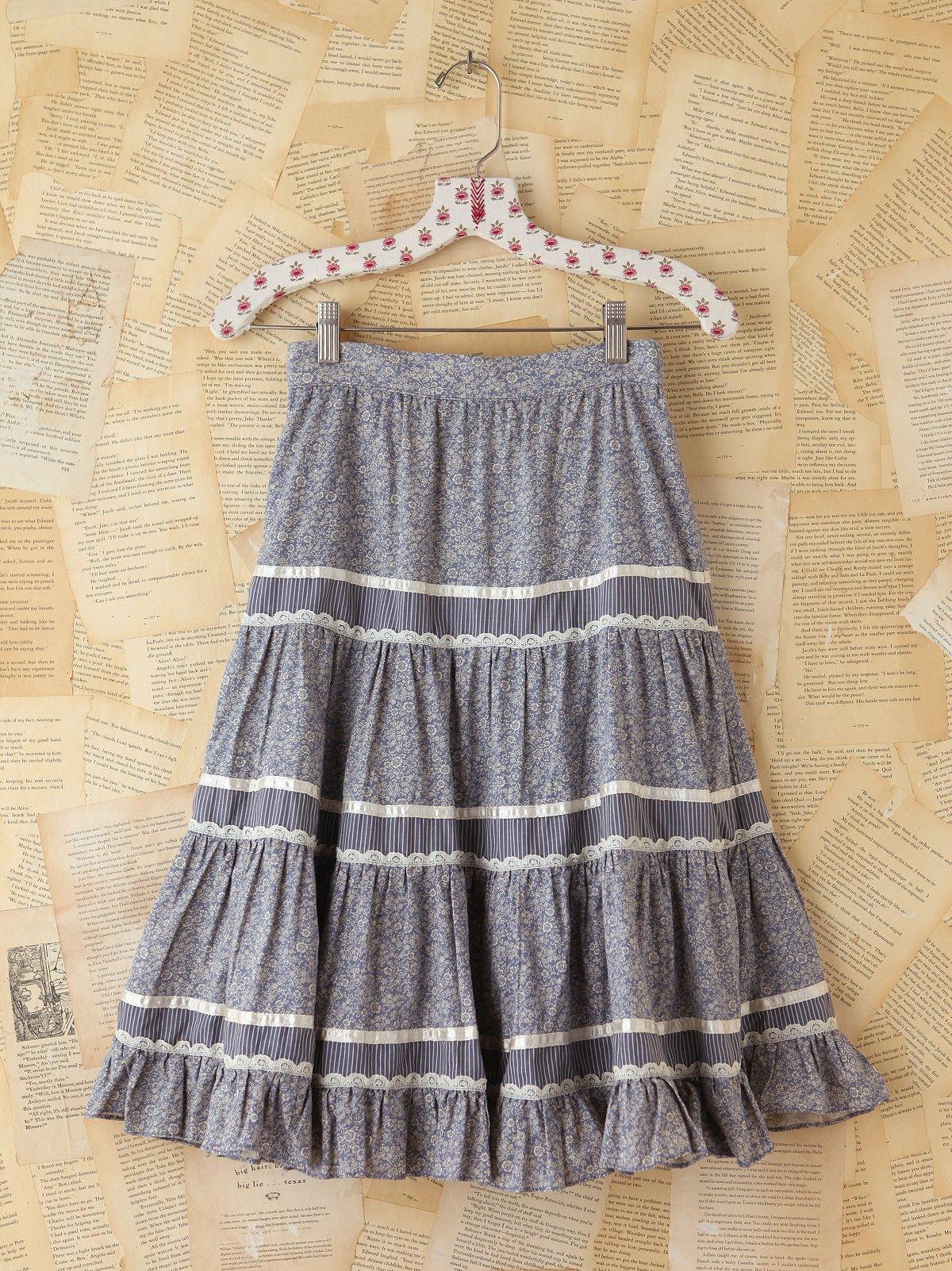 Vintage Floral Tiered Skirt